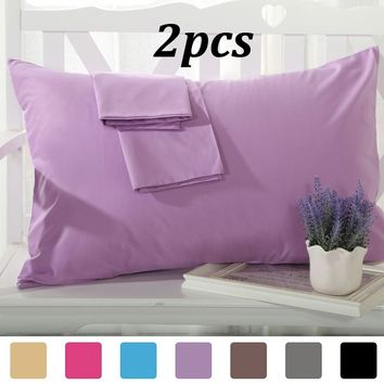 2PCS/Lot 1800 Thread Count Egyptian Cotton Pillowcases Pillow Cases Covers Standard/King/Body Size