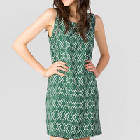 VICTORY PRINTED DRESS IN GREEN