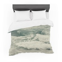 """Cristina Mitchell """"Crashing Waves"""" Teal Ocean Featherweight Duvet Cover"""