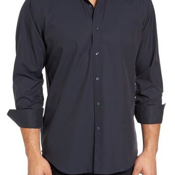Bugatchi Classic Fit Plaid Sport Shirt | Nordstrom