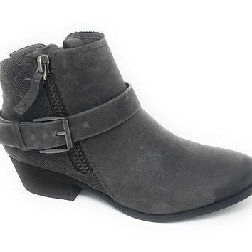 MDIGYW3 Not Rated Tessa Grey Heeled Ankle Booties