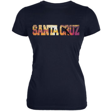 Santa Cruz Sunset Navy Juniors Soft T-Shirt