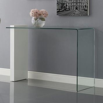 Casabianca Buono Glass Console Table - Walmart.com