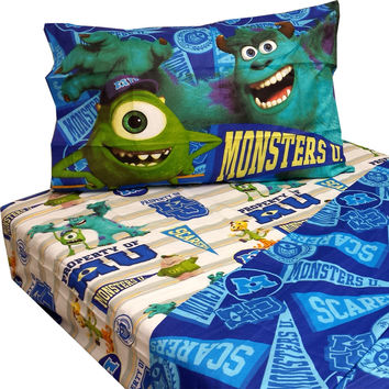 10 Disney Monsters Inc Twin Bed Sheet Sets Monster University Pennant Bedding Accessories