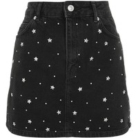 Topshop Star Studded Denim Skirt | Nordstrom