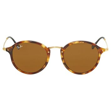 Ray Ban Brown Classic B-15 Round Mens Sunglasses RB2447F 1160 49