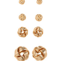 4 Pairs Earrings - from H&M