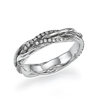 Unique Designer Twisted Vines Style Vintage Diamond Wedding Ring Band in White Gold or Platinum
