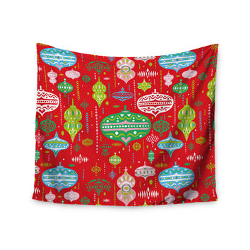 "Miranda Mol ""Ornate Red"" Ornaments Wall Tapestry"