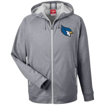 High Point Men's Heathered Performance Hooded Jacket