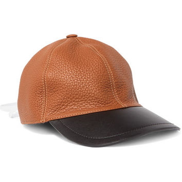 Loewe - Lace-up two-tone leather baseball cap