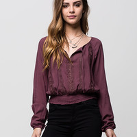 FULL TILT Crochet Womens Top | Blouses