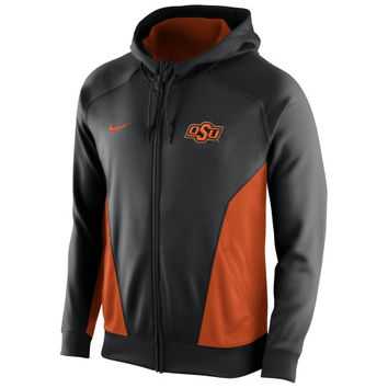 Oklahoma State Cowboys Nike Basketball Full Zip Performance Hoodie – Black
