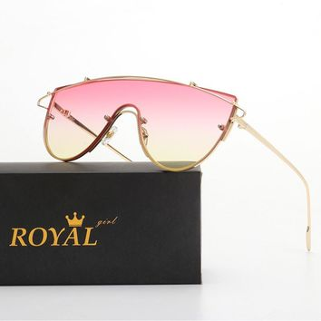 ROYAL GIRL Vintage Women Sunglasses Brand Designer Oversize Glasses ss565