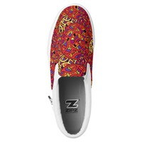 Colorful Organic Pattern Slip-On Sneakers