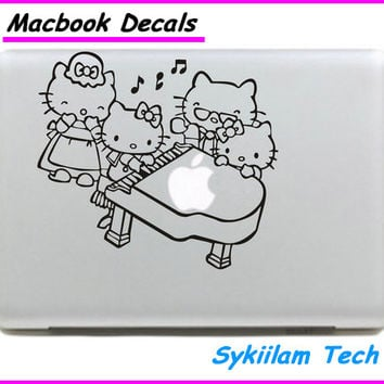 Lovely Hello Kitty Family Logo for apple Sticker Macbook Skin Air 11 13 Pro 13 15 17 Retina Decal Laptop Auto Vinyl Label Case