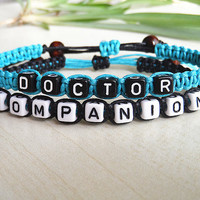 Couples bracelet,Doctor Who Inspired Bracelets, Doctor Companion, Couples Bracelets, set of 2 , Personalized Jewelry , Anniversary Gifts