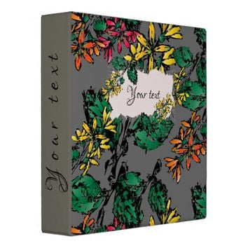 Wildflowers Pattern Binder