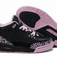 Hot Air Jordan 3 Retro Women Shoes Pink Black