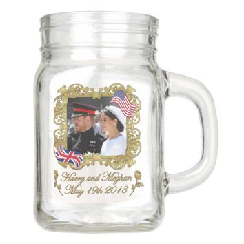 Prince Harry and Meghan Markle Royal Wedding Mason Jar