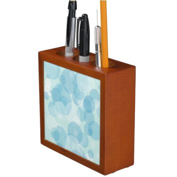 Blue Bubbles Desk Organizer