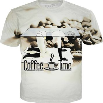 Coffee time! Kinky BDSM fetish tee shirt, naughty adult erotic design
