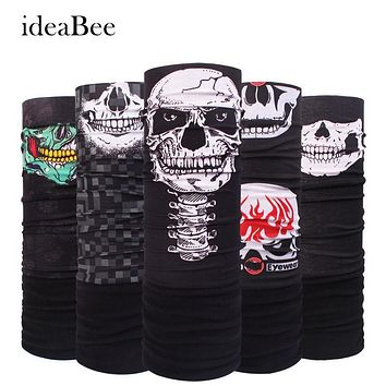 Winter Fleece Bicycle Multi Functional Bandana Headband Seamless Tubular Magic Bandana Tube Ring Scarf Sport Skull Face