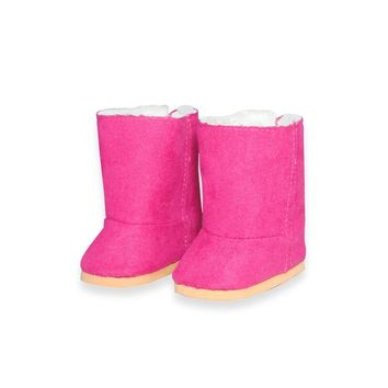"Doll Clothes Fits American Girl 18"" Inch Snow Boots Pink Shoes"