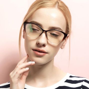 DRESSUUP 2016 Fashion Frame Glasses Women Cat Eye Glasses Woman Classic Optical Vintage Glasses Frame Eyeglasses Oculos Gafas