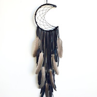 Crescent moon dreamcatcher - custom order - please message before purchase!