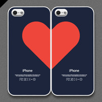 iPhone 5 Case - Love pairs for couples (set of 2 cases per order)