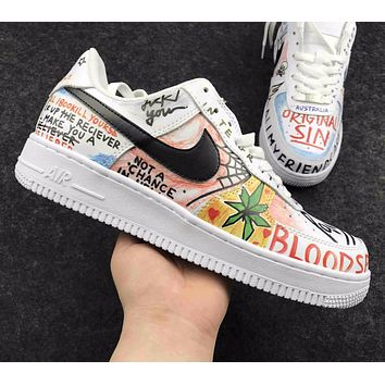 Best Online Sale Supreme x CdG x Nike Air Force 1 Graffiti Shoes Sport Shoes