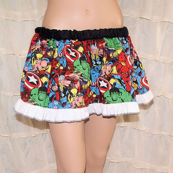Superhero Avengers Licensed Cosplay Circle Skirt Adult ALL Sizes - MTCoffinz - Ready to ship
