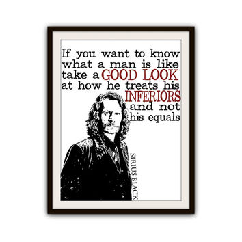 Harry Potter Quote Sirius Black Typography Inspirational Poster Home Decor