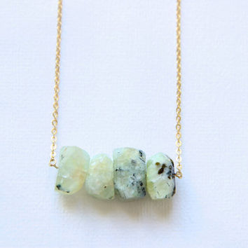 Fluorite Necklace Green Stone Necklace Faceted Crystal Pendant Fluorite  Green Stone Green Necklace Pendant Boho Fluorite Jewelry