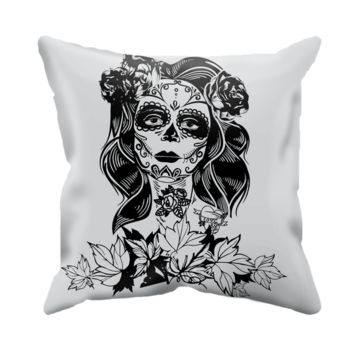Calavera Throw Pillow Cover