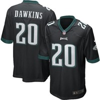 Mens Philadelphia Eagles Brian Dawkins Nike Black Alternate Game Jersey