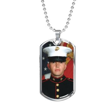 Custom Military  Dog tag Necklace Upload Your Own Image