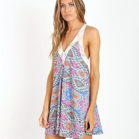 Lovers + Friends Hula Babydoll Dress Mosaic R14PWD0101 - Free Shipping at Largo Drive