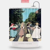 Abbey Road The Beatles Disney Princess Shower Curtain Free shipping 173