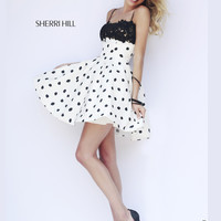 Sherri Hill Short Polka Dot Prom Dress 32178