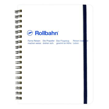 "Rollbahn Notebook WhiteSmall 4.25 x 5.5"" Or Large 5.5 x 7"""