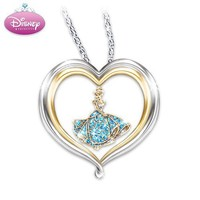Disney Princess Cinderella's Dream Heart-Shaped Sterling Silver Pendant Necklace by The Bradford Exchange