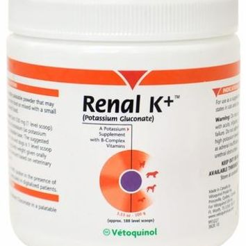 Vetoquinol Renal K+ Powder for Dogs and Cats (100 gm)