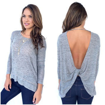 Twisted Fate Knit Top In Mocha