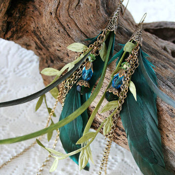 MERMAID TAILS Fantasy Feather Chain and by AngelfishOriginals