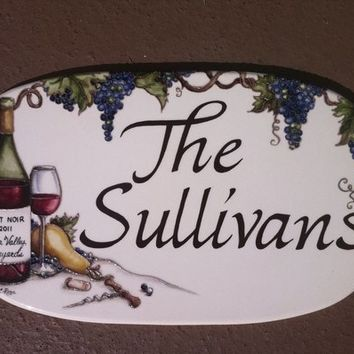"Custom Hand-Painted Oval Address Plaques 8"" x 14"""