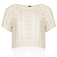 Beaded Fringe Tee - New In This Week  - New In