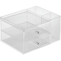 InterDesign Storage and Organization Drawers with Side Organizer, 2-Drawer - Walmart.com