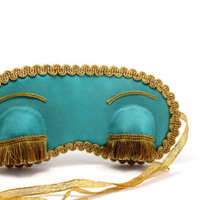 Breakfast at Tiffany's sleep mask, Holly Golightly blindfold, Audrey Hepburn eye mask with eyelashes, Gift idea for her, women's accessory